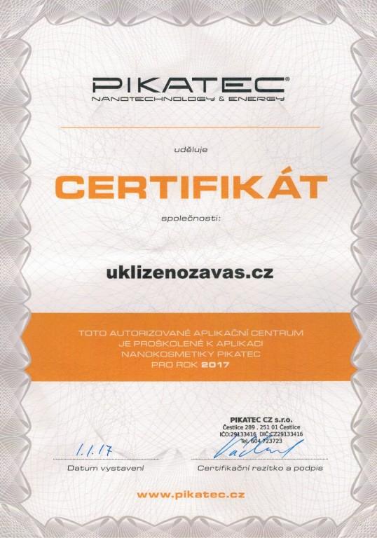 certifikát PIKATEC